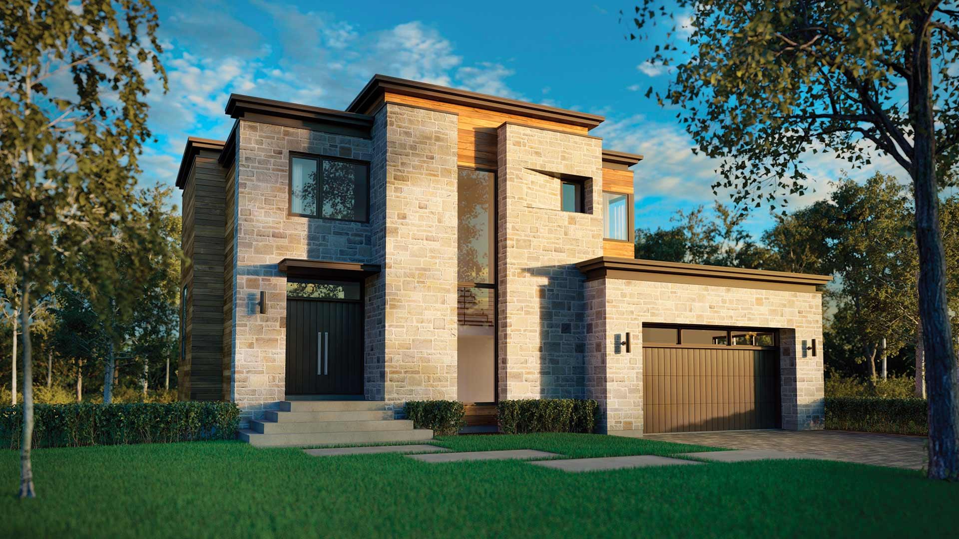 Cottage a gauche constructeur de maison neuve cim signature for Constructeur de maison neuve