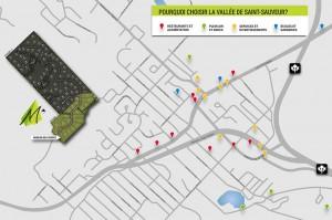 Visualisez l'emplacement du projet situé à St-Sauveur >